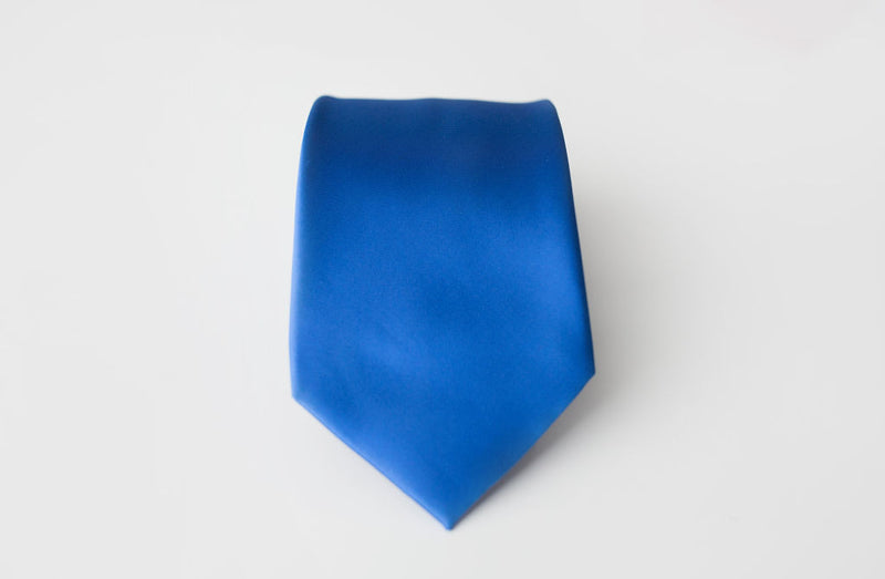 french blue satin tie for men