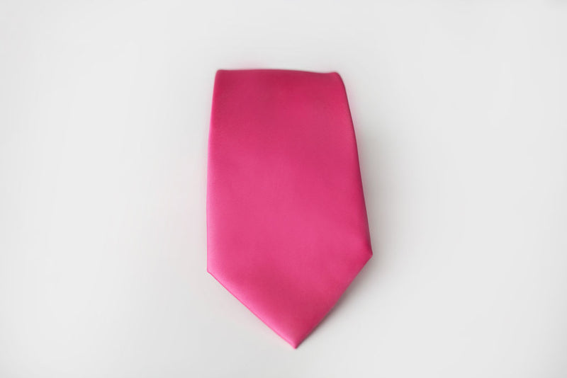 fuchsia satin tie for men