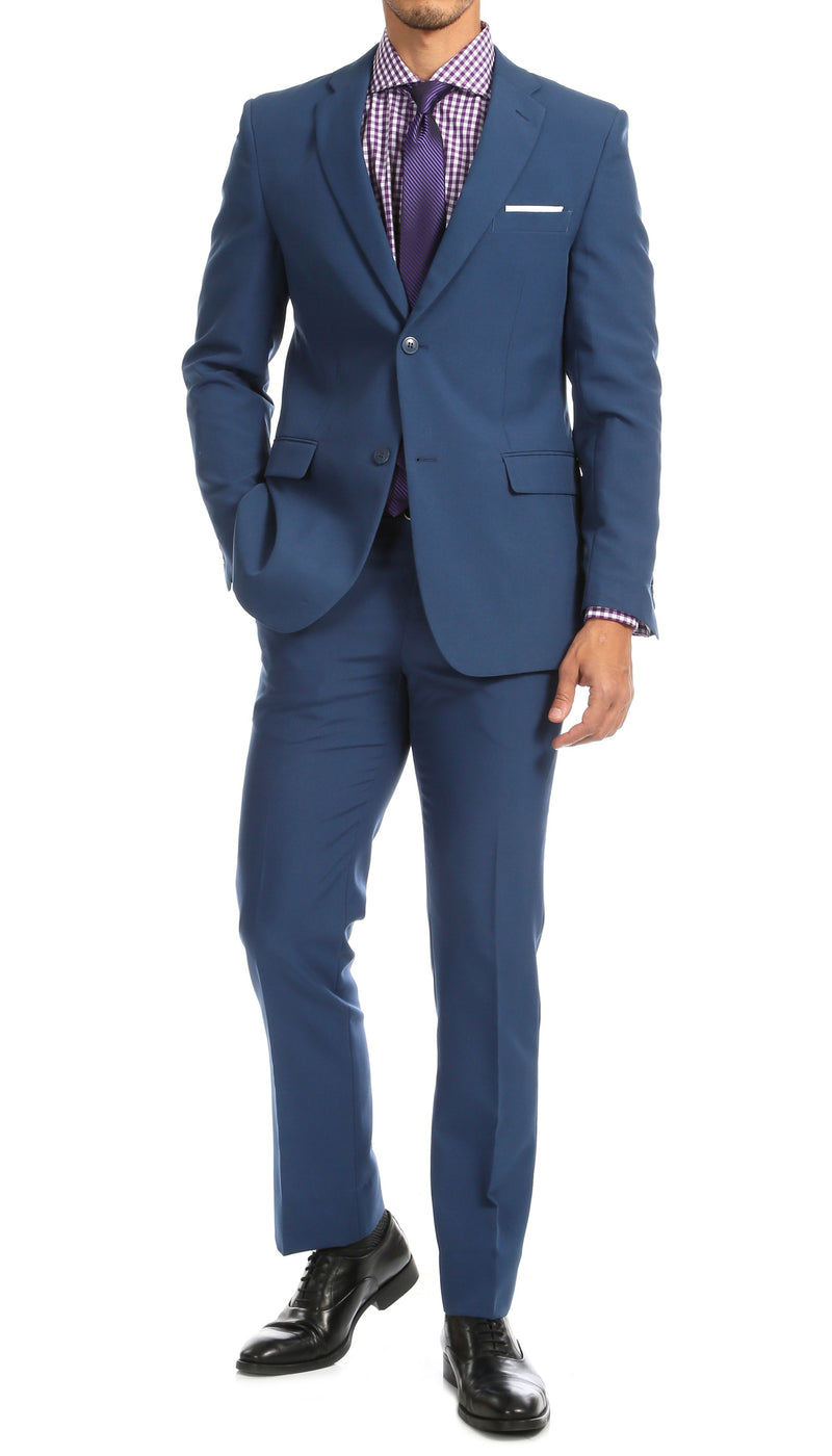 PL1969 Mens Indigo Slim Fit 2pc Suit - Ferrecci USA