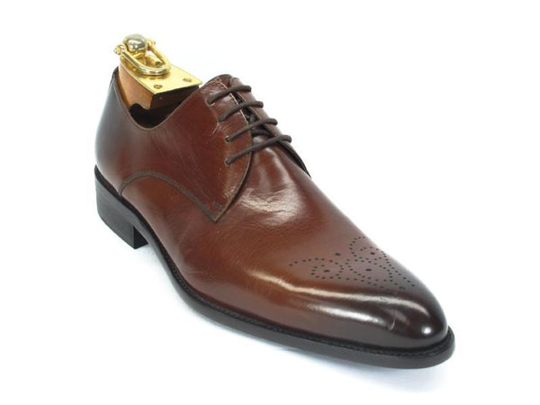 Carrucci Lace-up Oxford Cognac