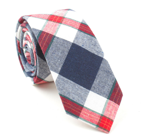 RED AND NAVY PLAID 1