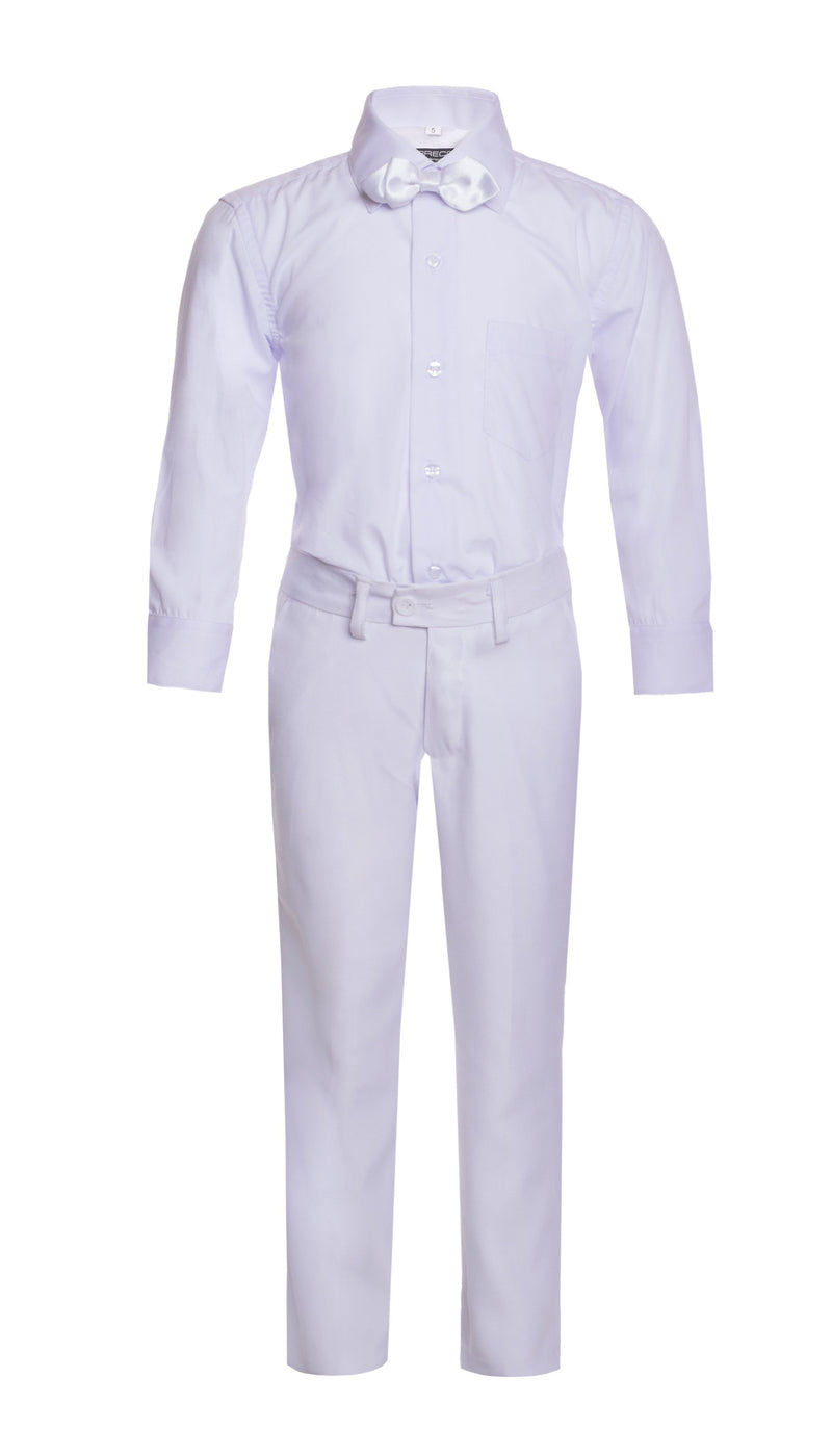 Boys Reno JR 5pc White Shawl Tuxedo Set - Ferrecci USA