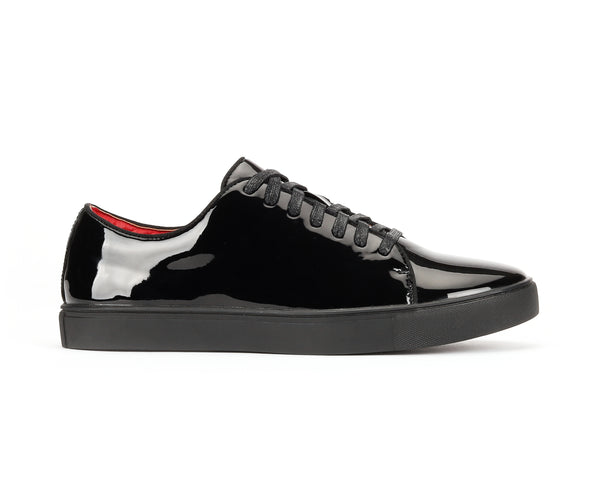 MENS PATENT LEATHER SNEAKER