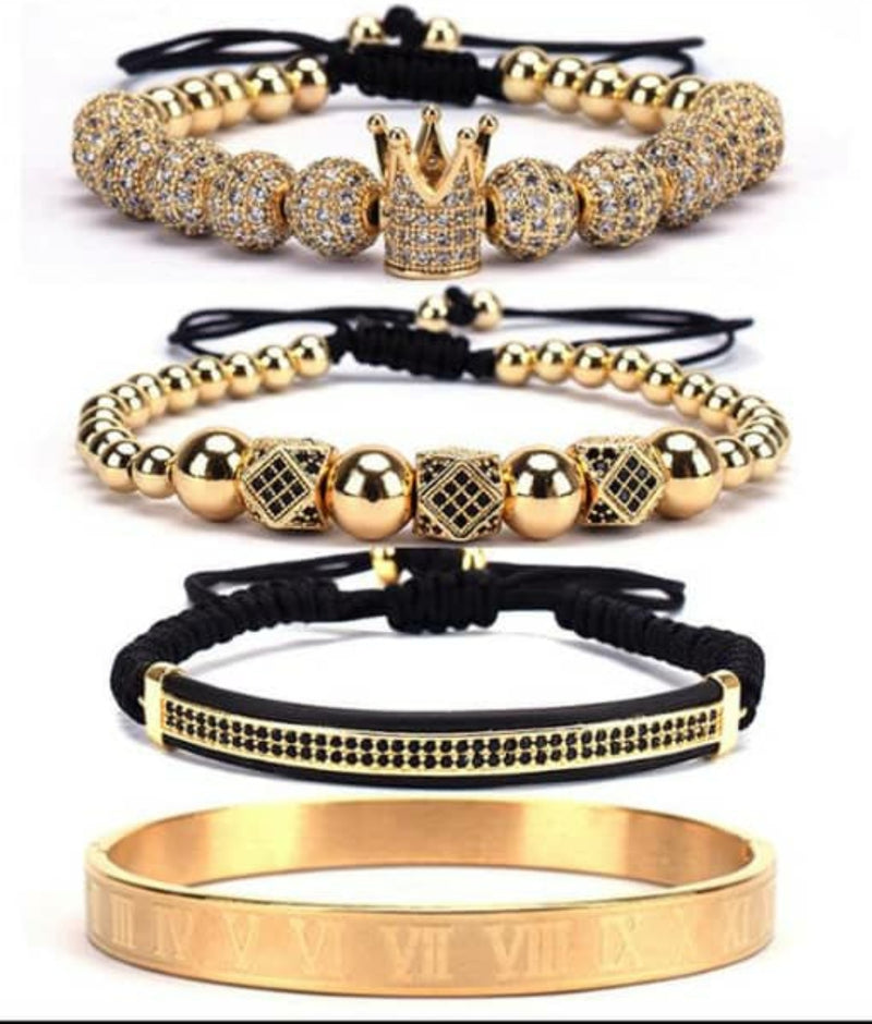 4 Piece Gold Crown Set