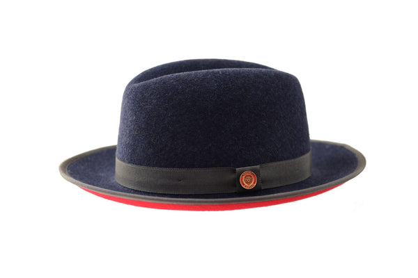 Princeton Denim blue/red fedora