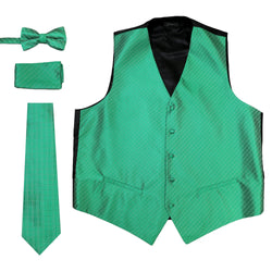 Ferrecci Mens 300-5 Emerald Green Diamond Vest Set - Ferrecci USA