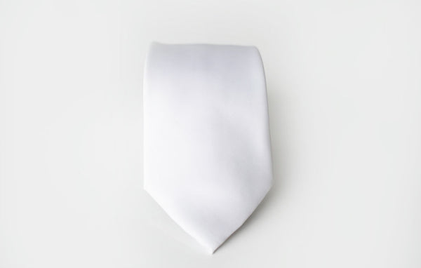 white satin tie for men