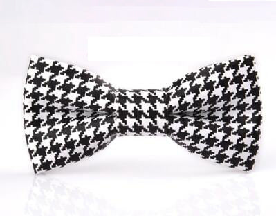 Black/White Houndstooth  Bowtie