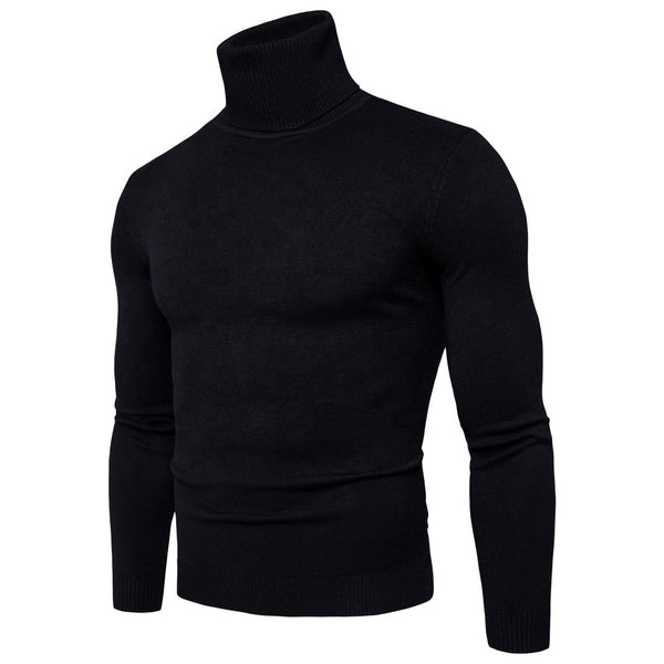 Mens Black Turtle Neck