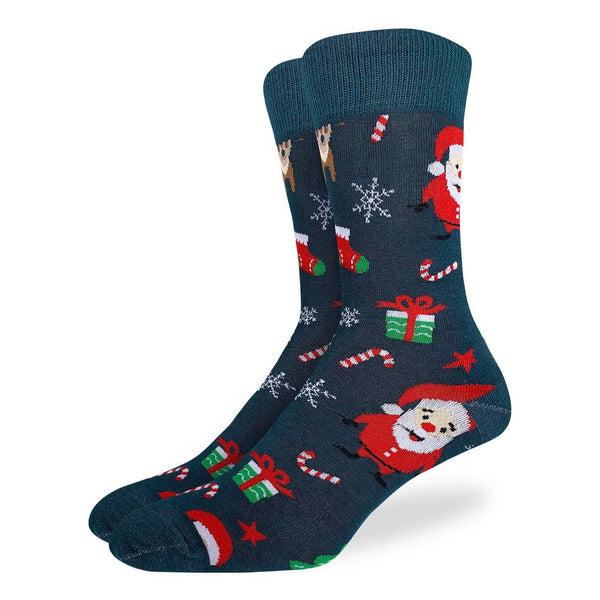 Men's Santa and Rudolf Socks