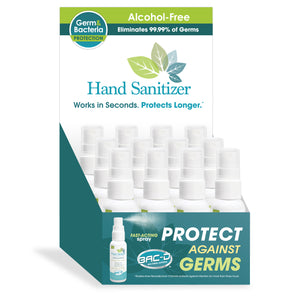 BAC-D® 2oz Spray Alcohol Free Hand Sanitizer & Wound Care - 12 Piece Display Pack