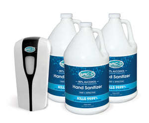 NEW!  BAC-D® ALCOHOL BAC-D® Wall Mount Starter Pack - 1 Wall Mount & 3 One Gallon Alcohol Refills