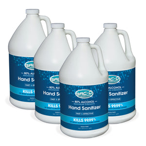 NEW!  BAC-D® ALCOHOL Hand Sanitizer - One Gallon Refill Pack of 4