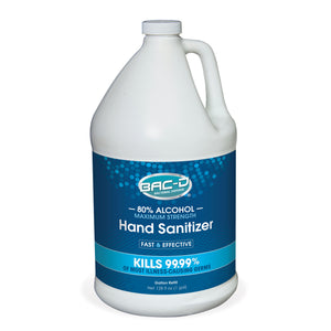 NEW!  BAC-D® ALCOHOL Hand Sanitizer - One Gallon Refill Single Pack
