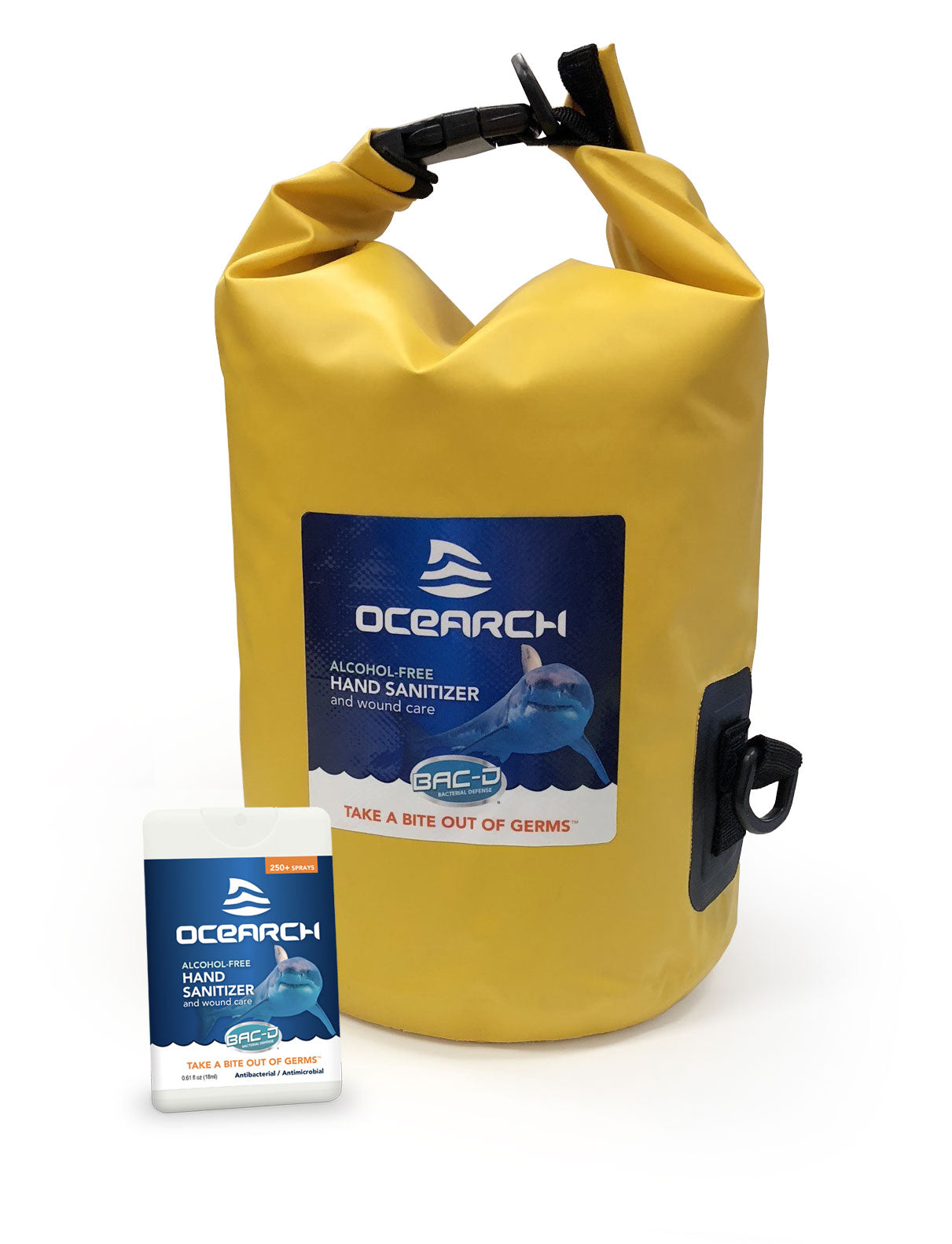 OCEARCH® 18ml Hand Sanitizer and Wound Care Spray - 72 Piece Mariner's Pack with Free Waterproof Bag