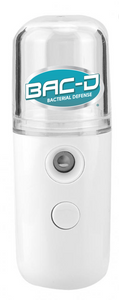 NOW AVAILABLE! BAC-D® Nano Mist Refillable Sanitizing Sprayer with Alcohol Free Sanitizer