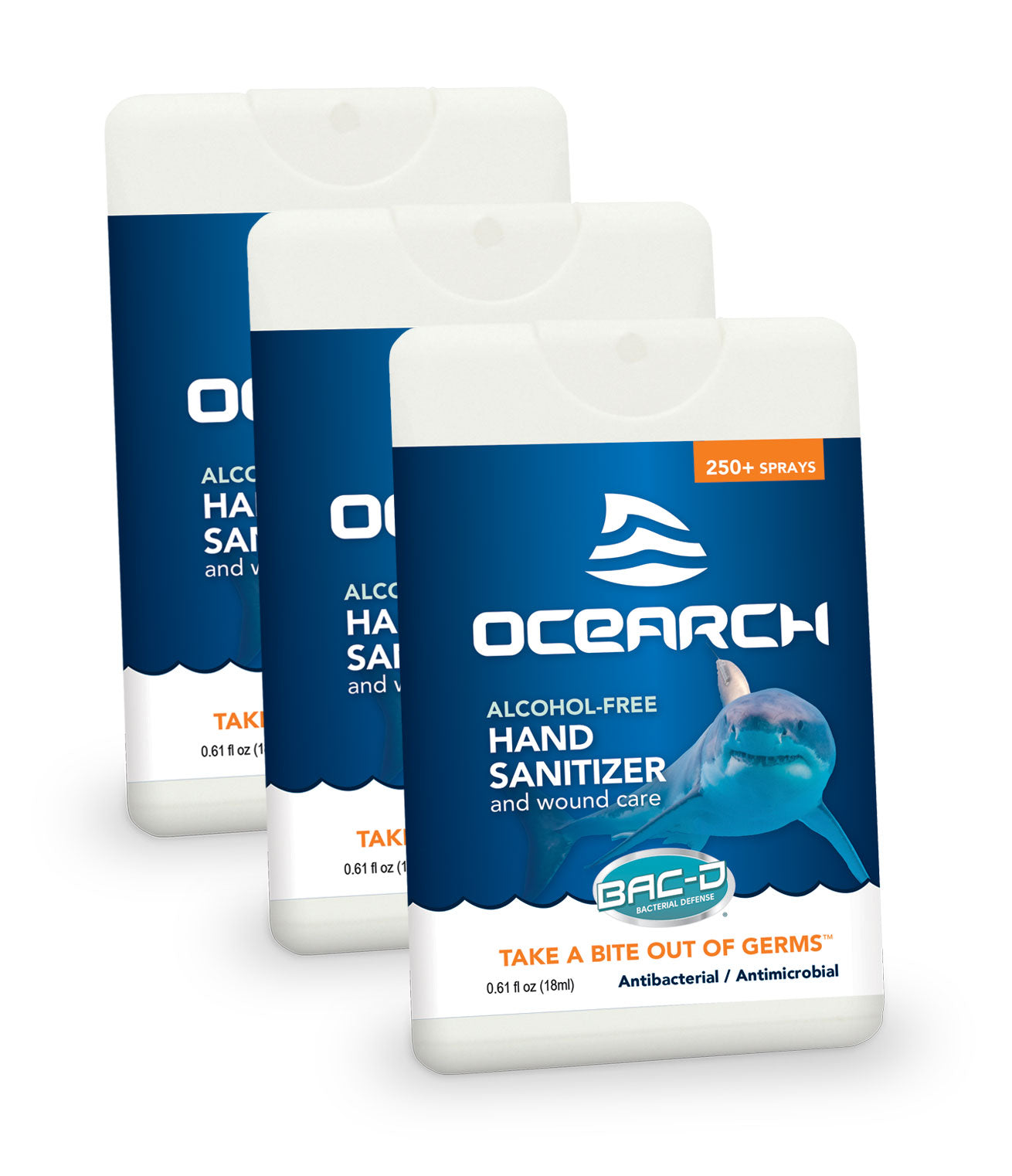 OCEARCH® 18ml Hand Sanitizer and Wound Care Spray - 3 Piece Pack