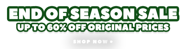 End Of Season Sale - Up To 60% Off Original Prices - Prices as marked