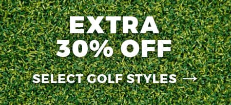 Extra 30% Off Golf - Shop Now