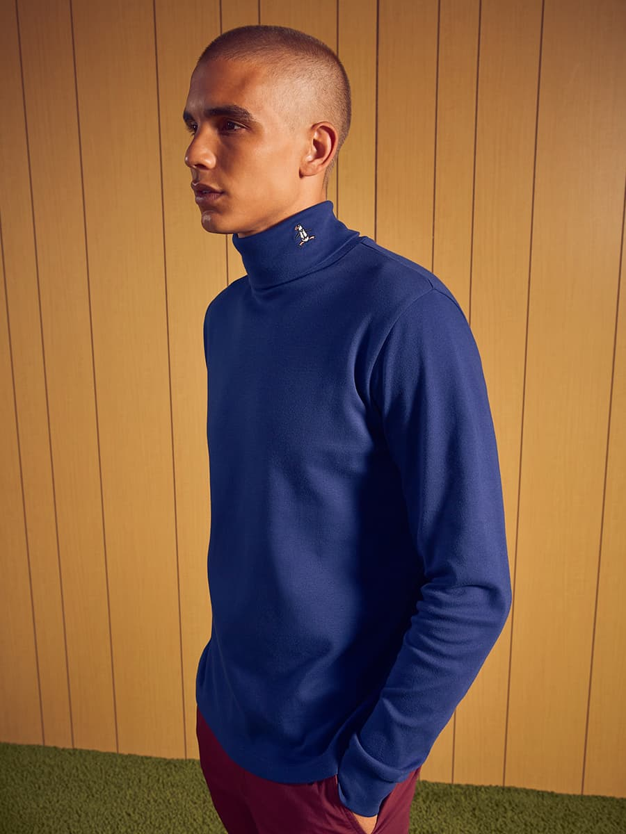 Knit Interlock Turtleneck