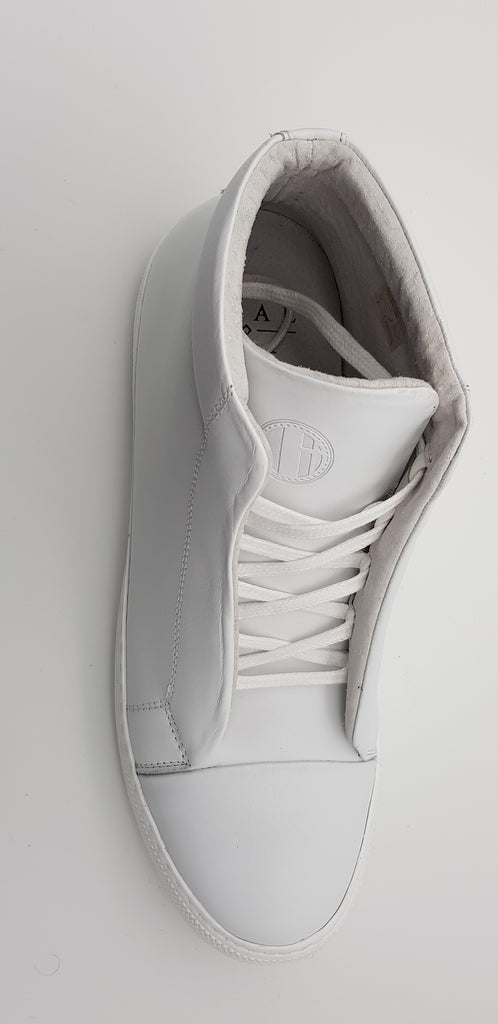 ET AL Shoe Design | Emil High, eleganter Leder Sneaker Weiß