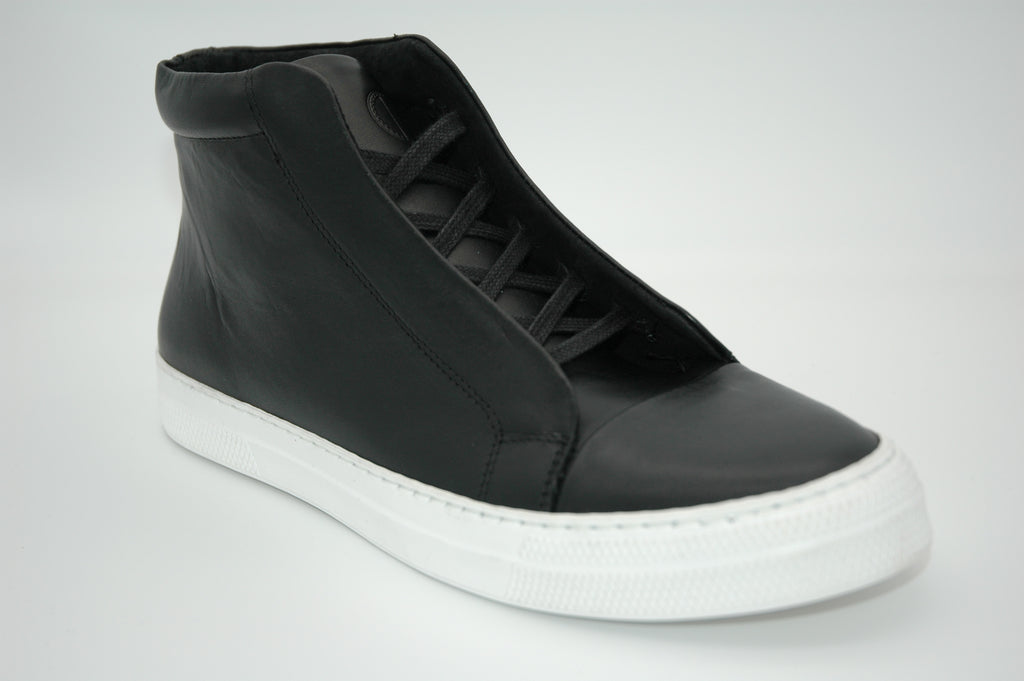 ET AL Shoe Design | Emil High, eleganter Leder Sneaker Black&White