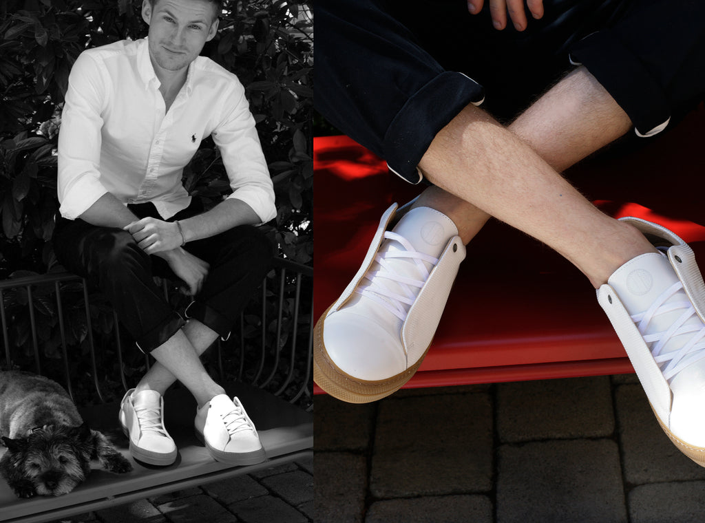 ET AL Shoe Design | Emil, eleganter Leder Sneaker White Nature
