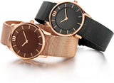 Graphite and Rose Gold Ladies Watch
