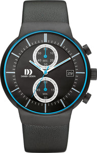 Black Chrono Mens Watch
