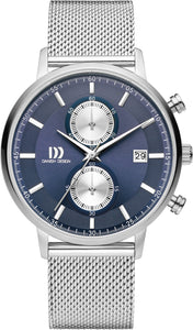Blue Chrono Mens Watch