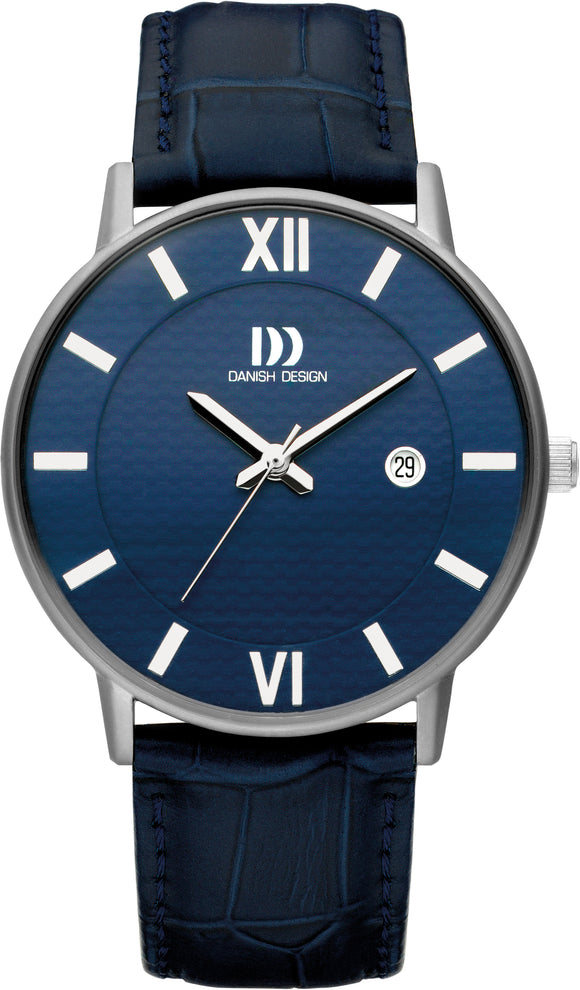 Blue Titanium Mens Watch