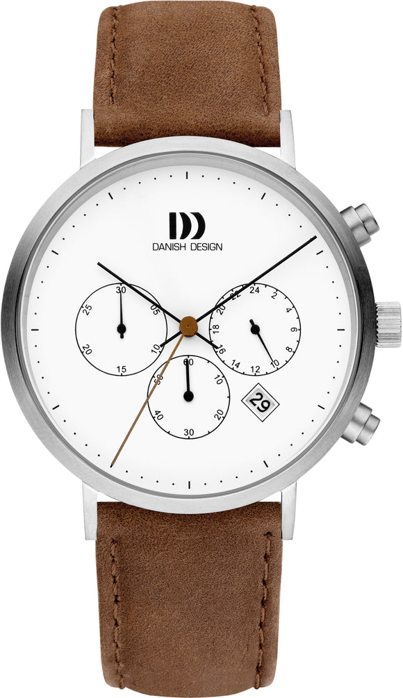 Modern Brown Leather Mens Watch