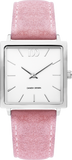 Pink Square Ladies Watch