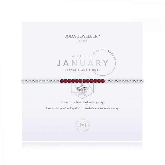 A Little Birthstone January Garnet Bracelet