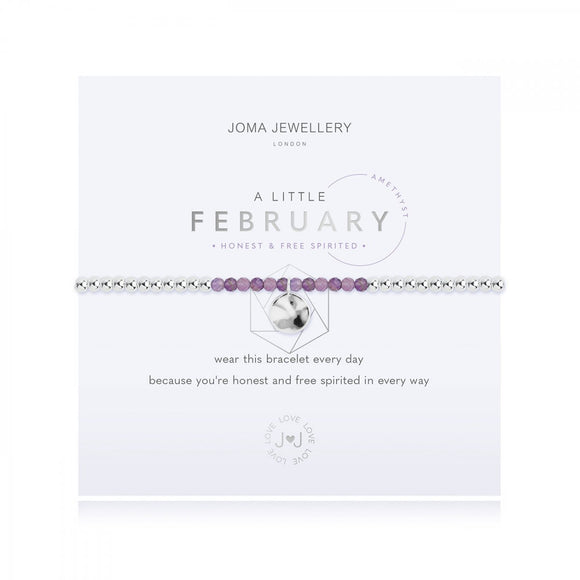 A Little Birthstone February Amethyst Bracelet