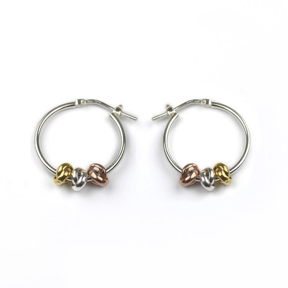 Three Knots Hoop Earrings