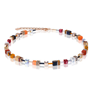 GeoCube necklace Special Edition with Carnelian