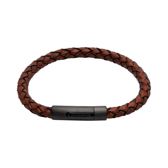 Antique Brown Leather Bracelet
