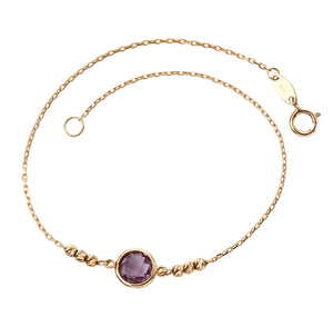 Gold and Amethyst Bracelet