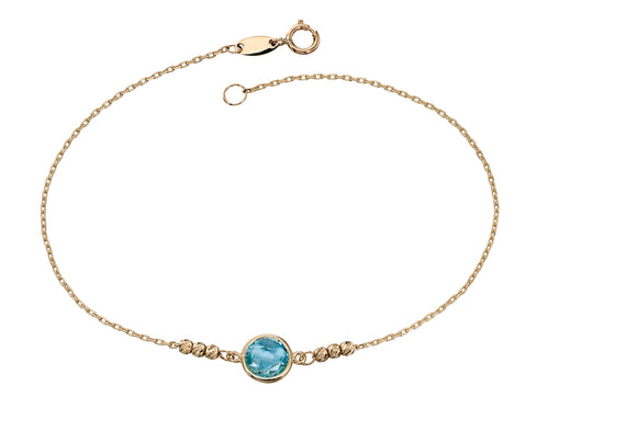 Gold and Blue Topaz Bracelet