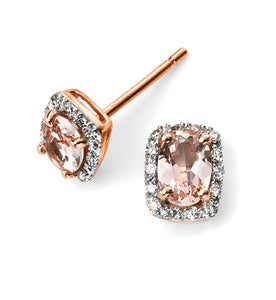Rose Gold and Morganite Stud Earrings