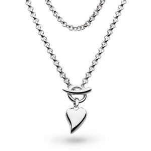T-bar Heart Necklace