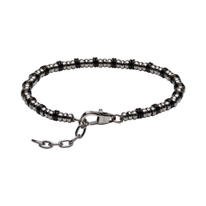 Stainless Steel Bracelet with Black