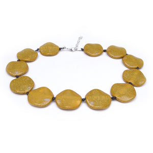 Riri Short Mustard Necklace