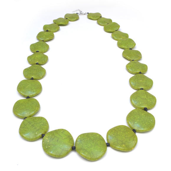 Riri Long Green Necklace