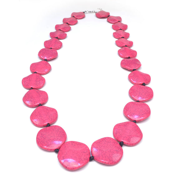 Riri Long Pink Necklace
