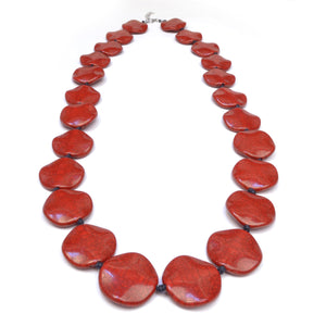 Riri Long Red Necklace