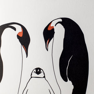 Luxury Wild Card - Penguin Family