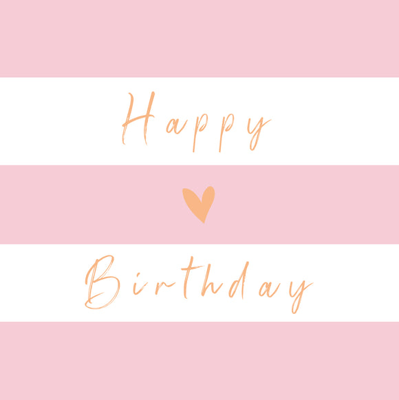 Birthday Stripe Pink