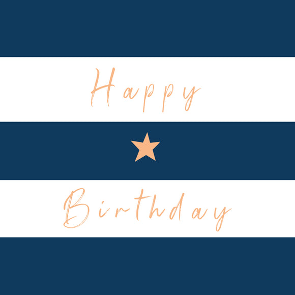 Birthday Stripe Blue
